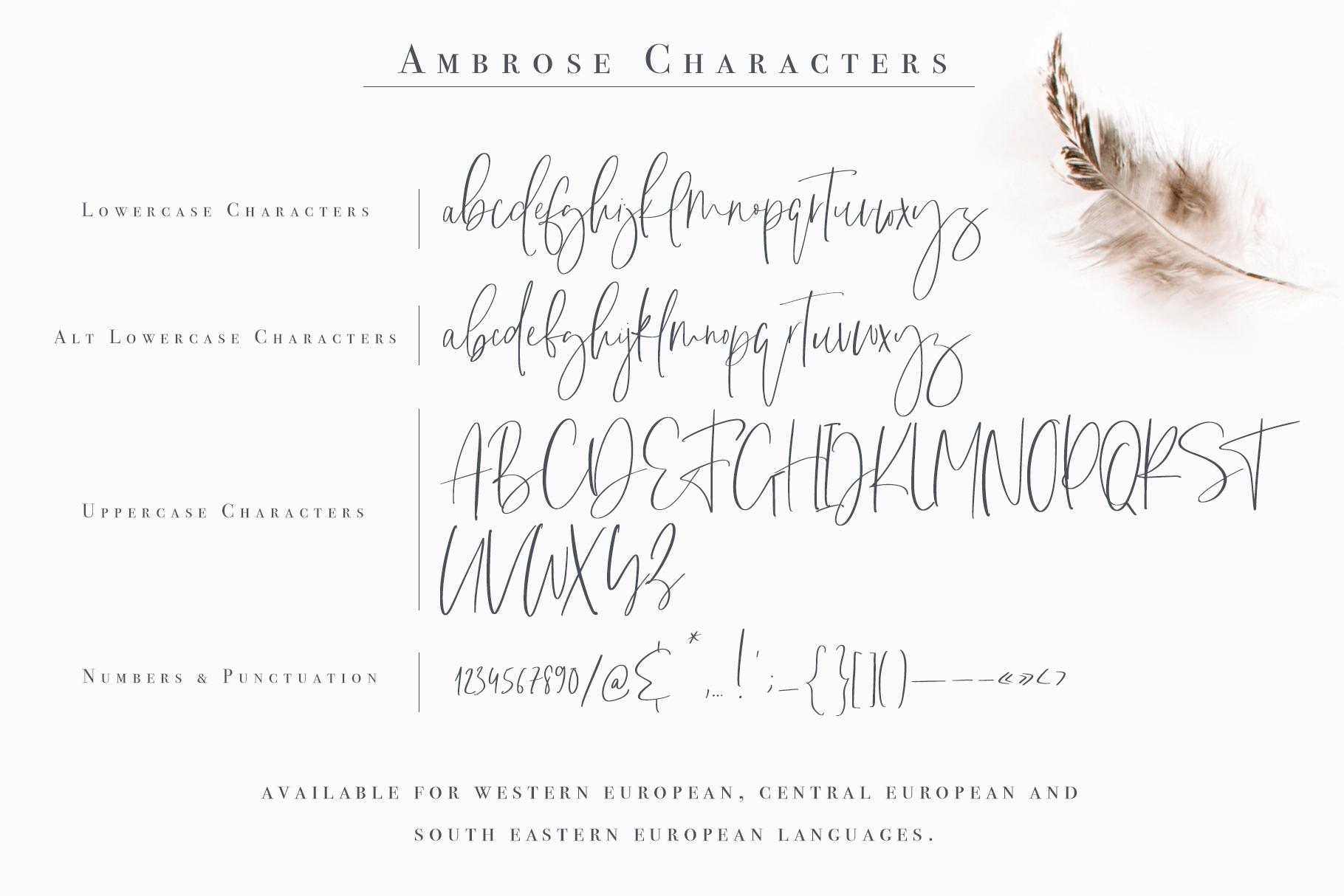 Ambrose Font example image 13