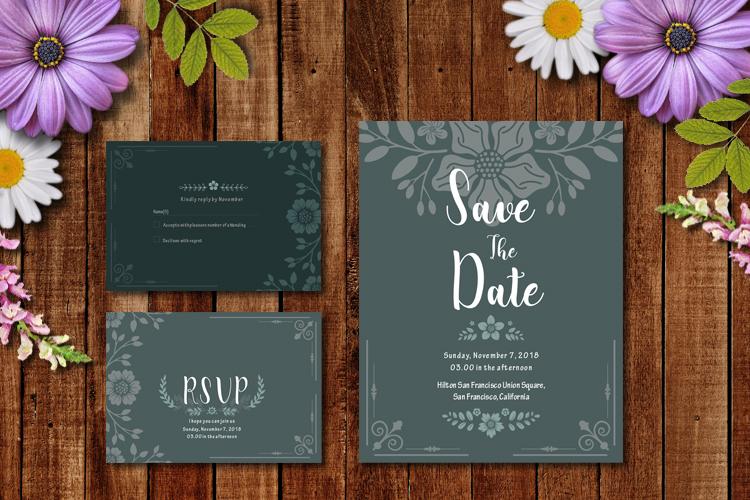 Floral Wedding Invitation example image 3