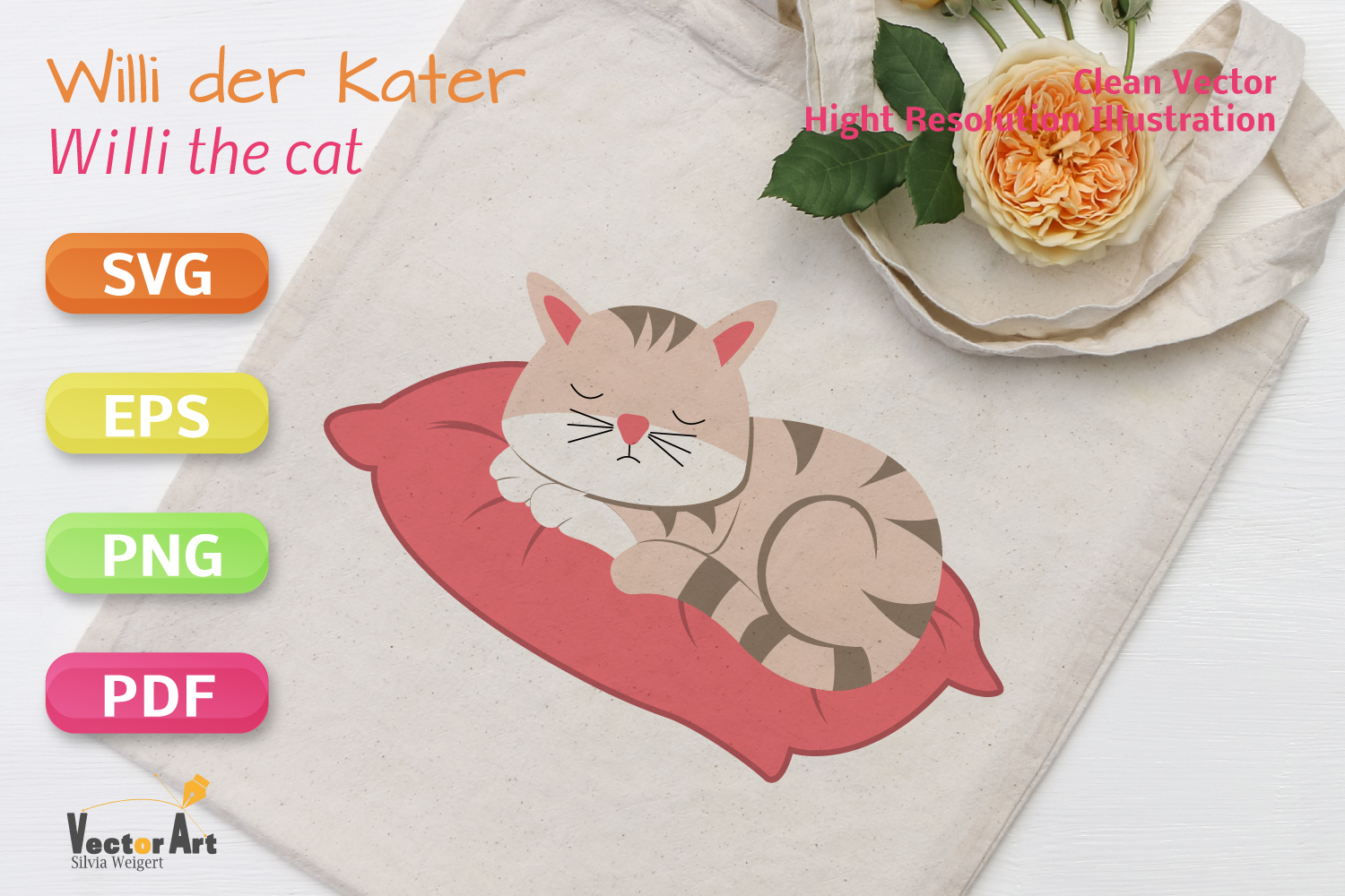 Sleeping Cat - SVG File for Crafters example image 2