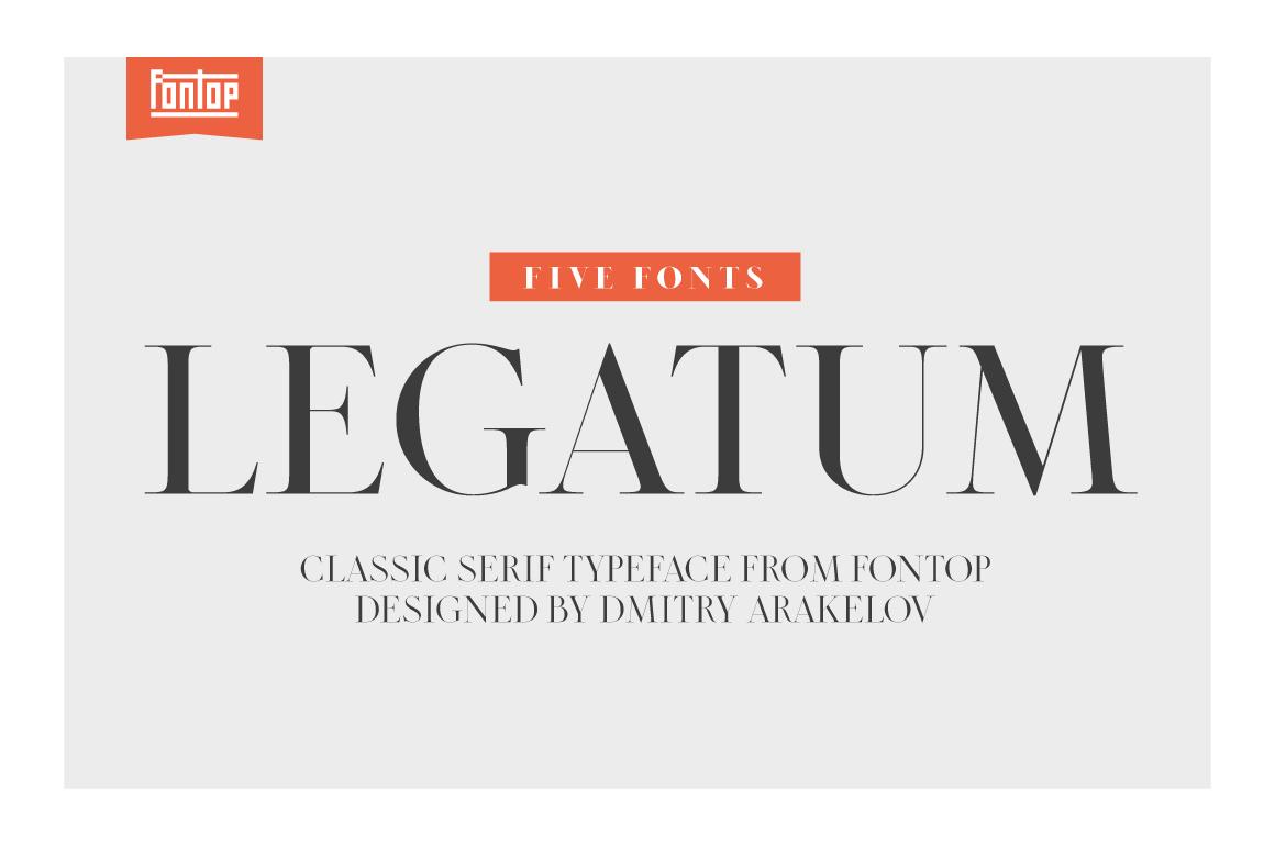 LEGATUM font family example image 1