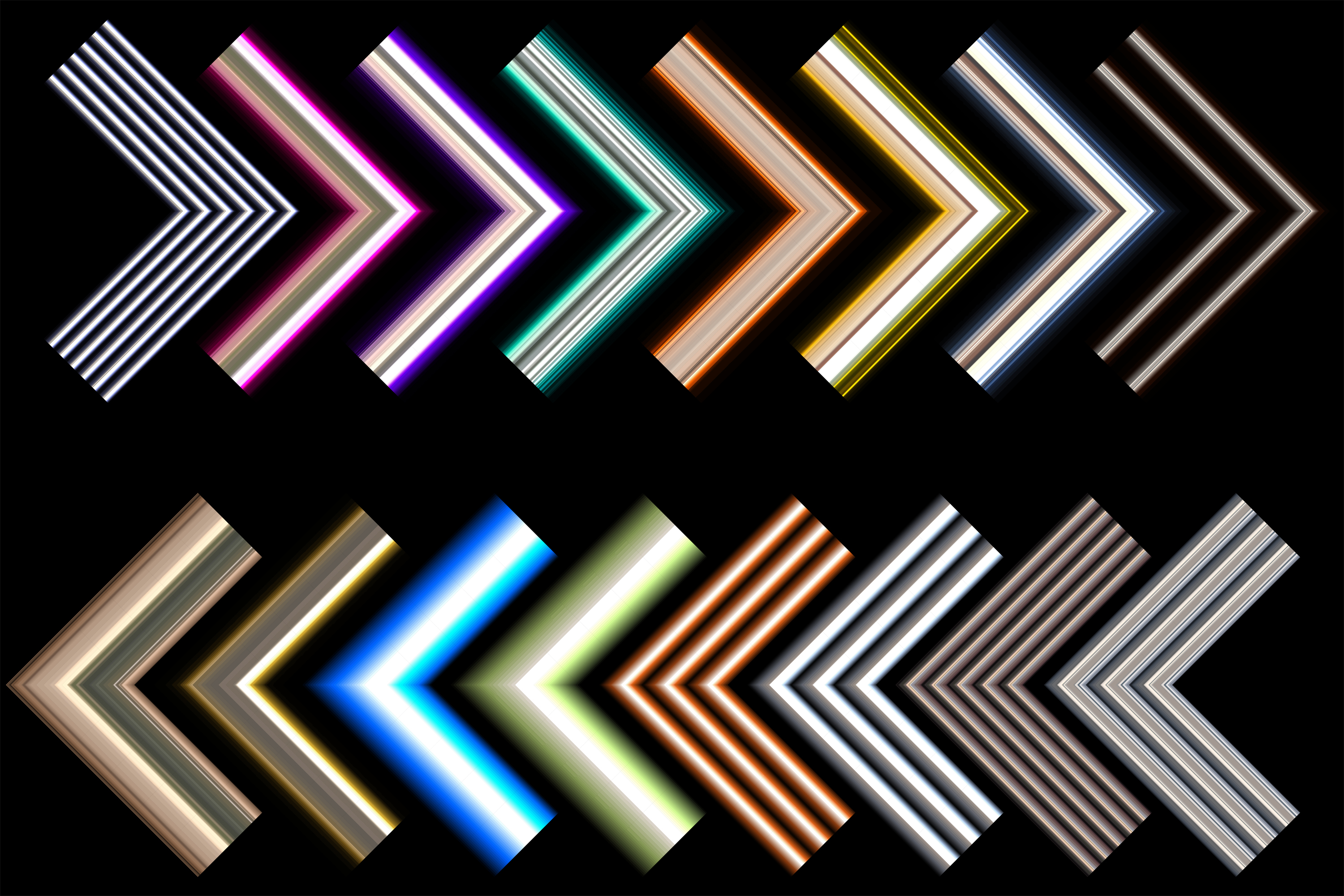 16 Polished Metal Pipe AI Pattern Brushes example image 2