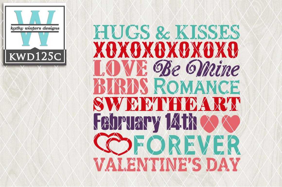Valentines Cutting File KWD125C example image 1