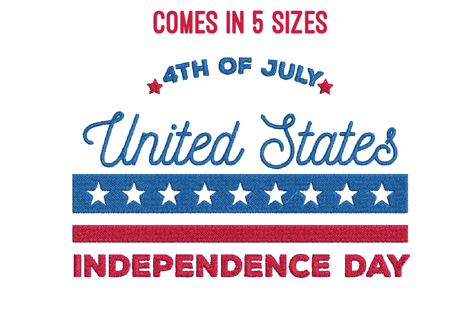 July 4th Embroidery | Independence day | Machine embroidery| example image 1
