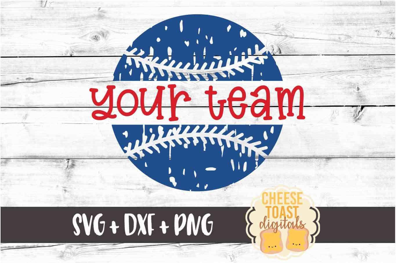 Personalized Distressed Baseball - Baseball Team SVG PNG DXF example image 2