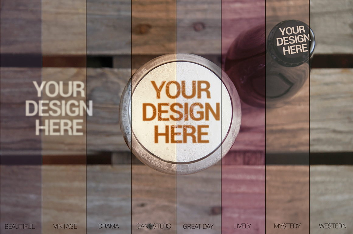 Beer Cup & Bottle Mockup -30 Intro example image 4