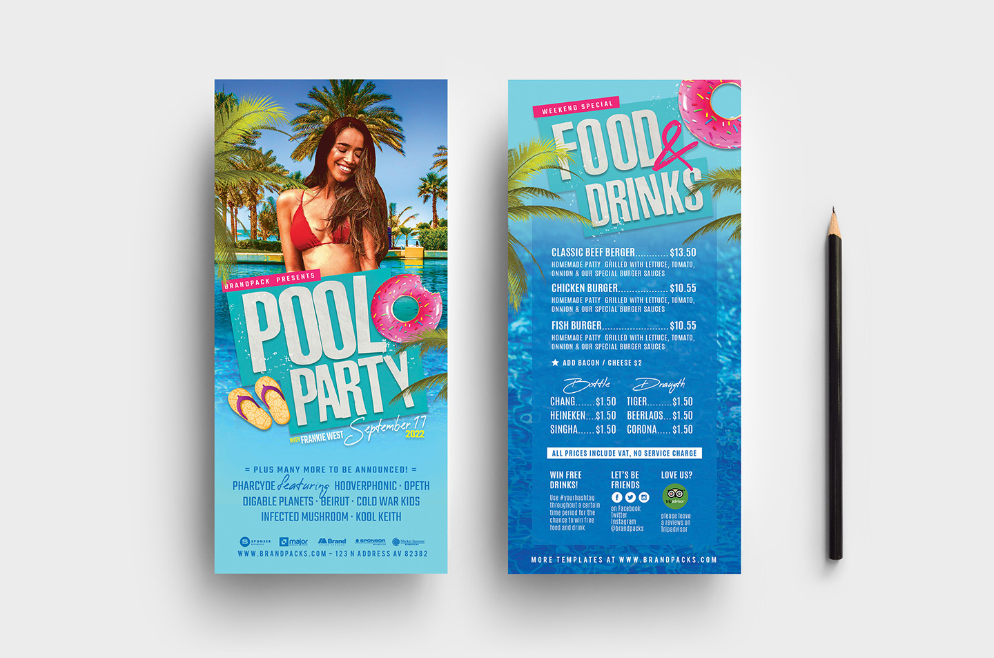 Pool Party Flyer Template example image 7