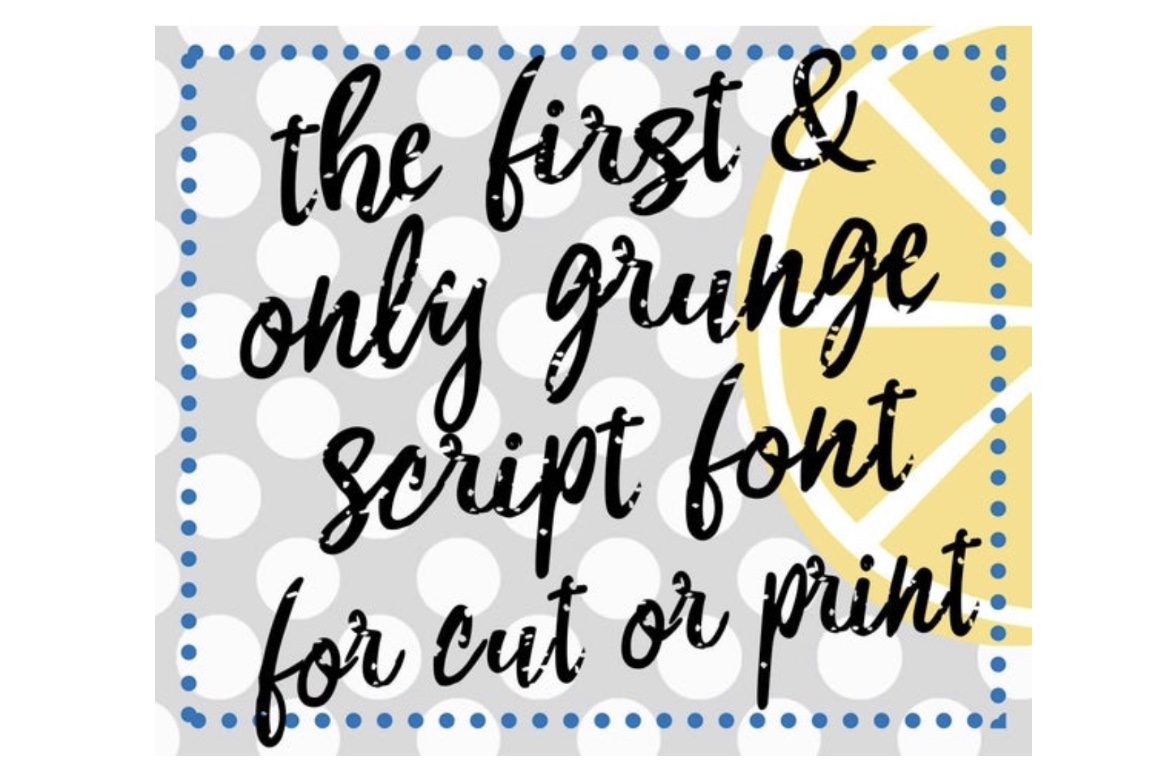 Script Grunge Font with SVG files and OTF example image 3