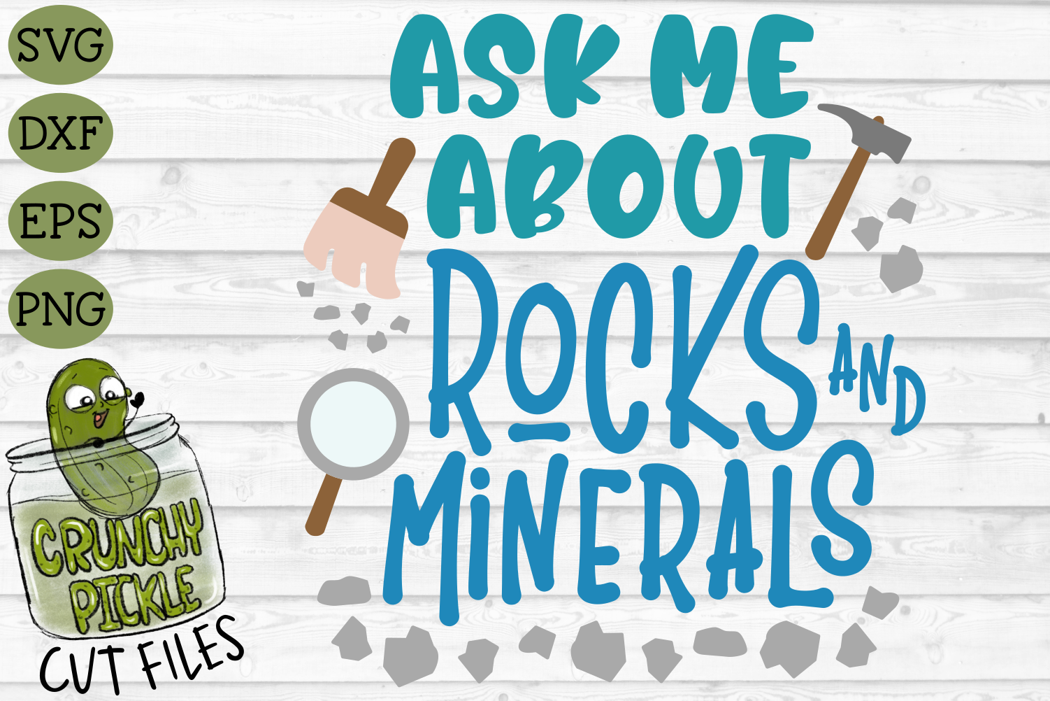 Ask Me About Rocks and Minerals SVG example image 2