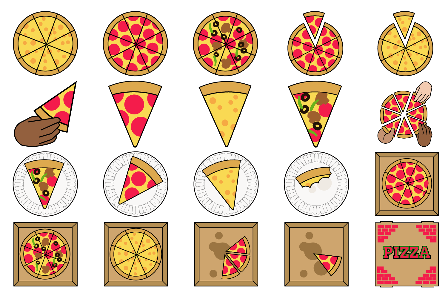 Pizza Party Clipart example image 1