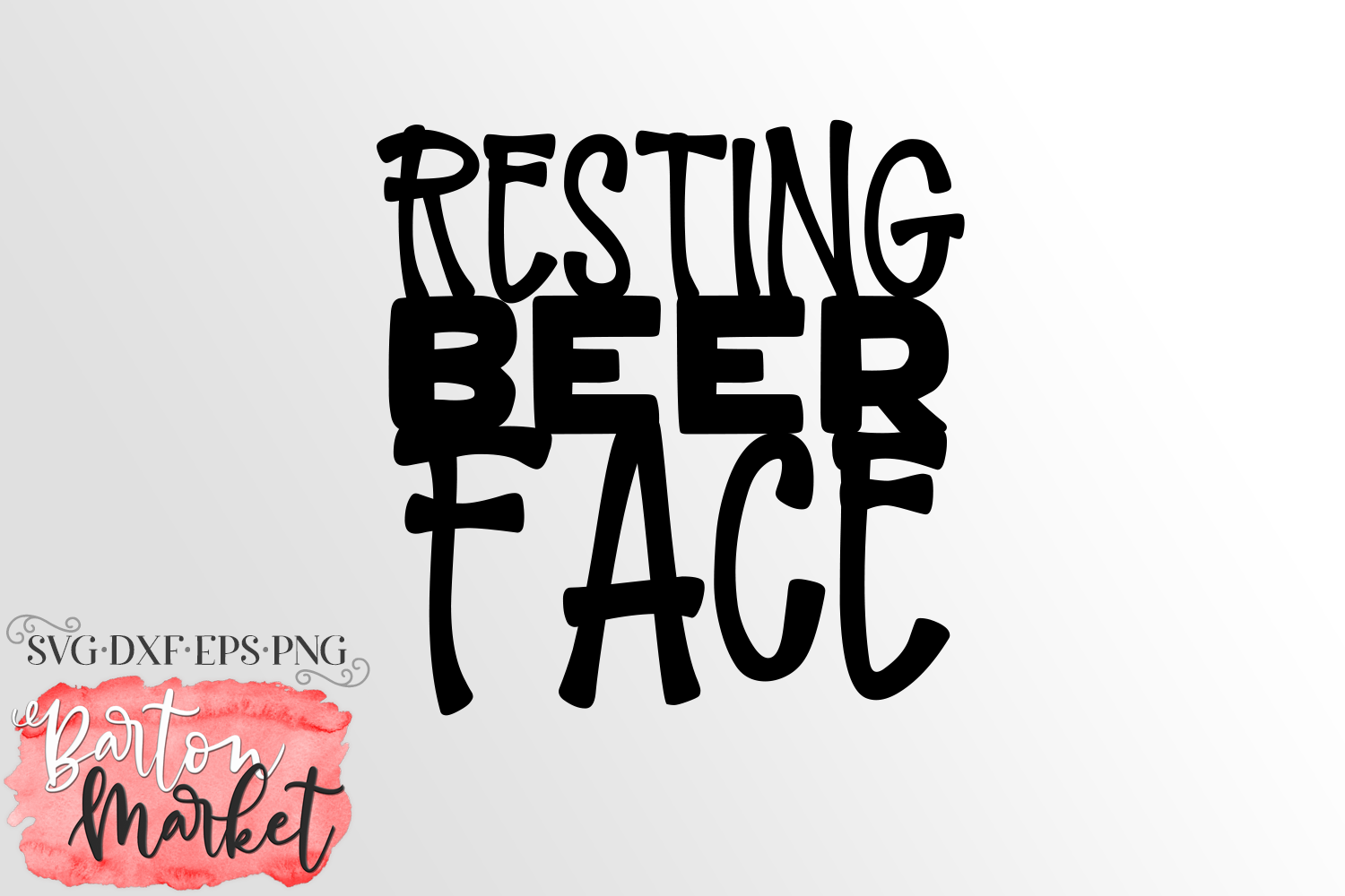 Resting Beer Face SVG DXF EPS PNG example image 3