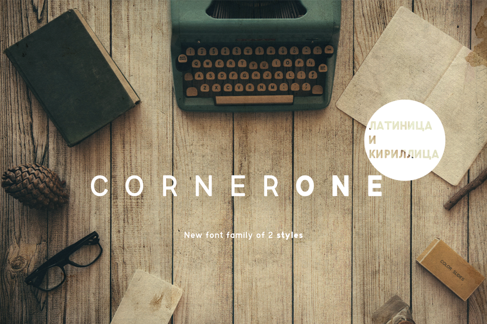 CornerOneTypeface example image 1