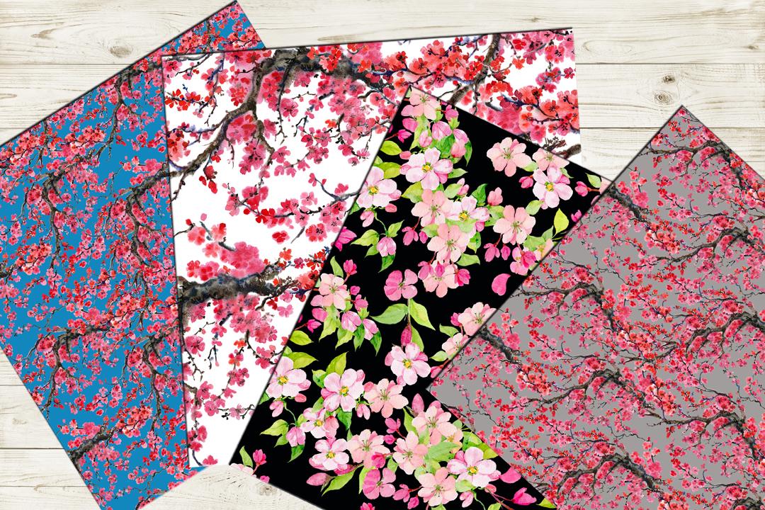 Sakura .seamless pattern.floral pattern example image 3