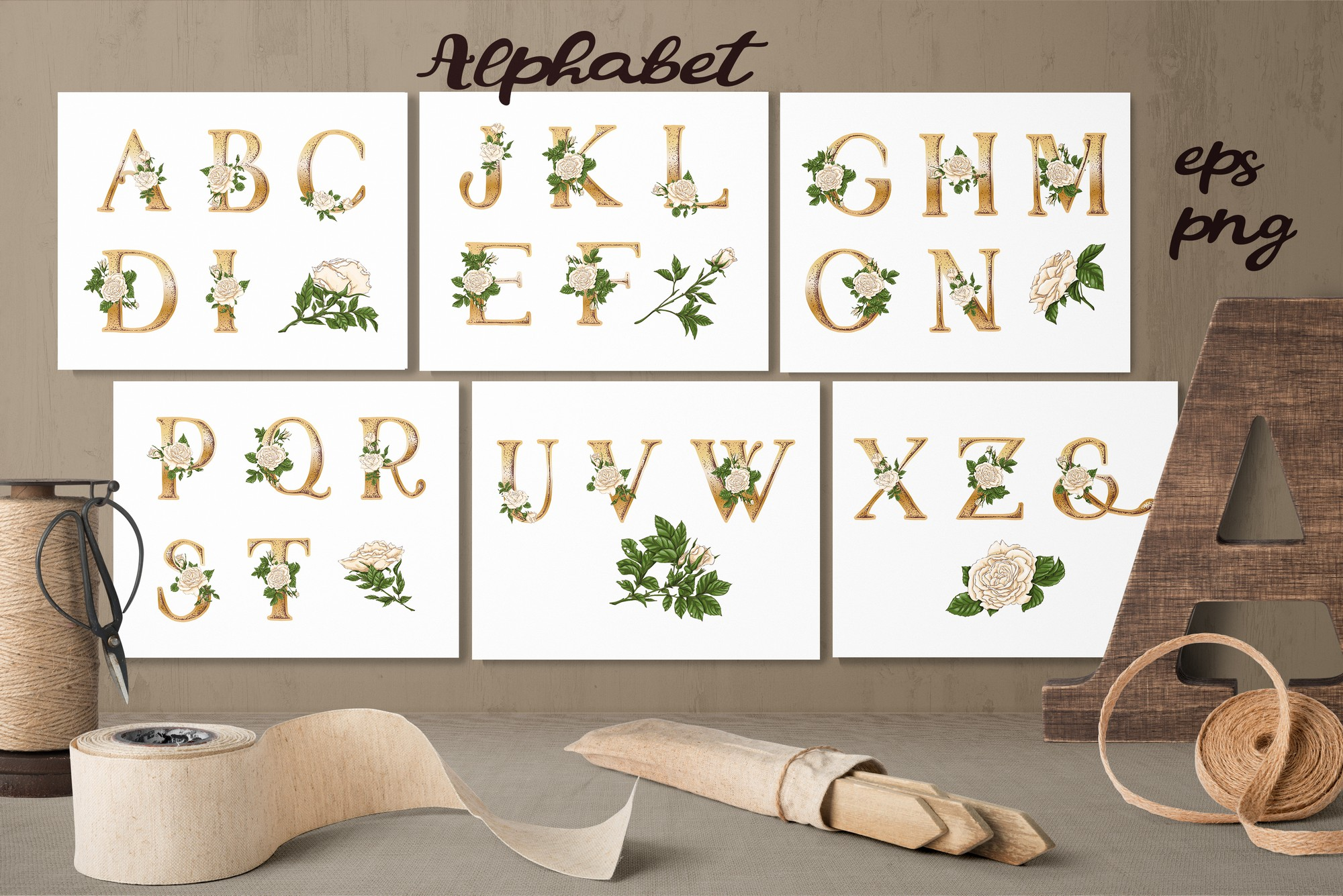 Roses – Vector Clip Art Set example image 9