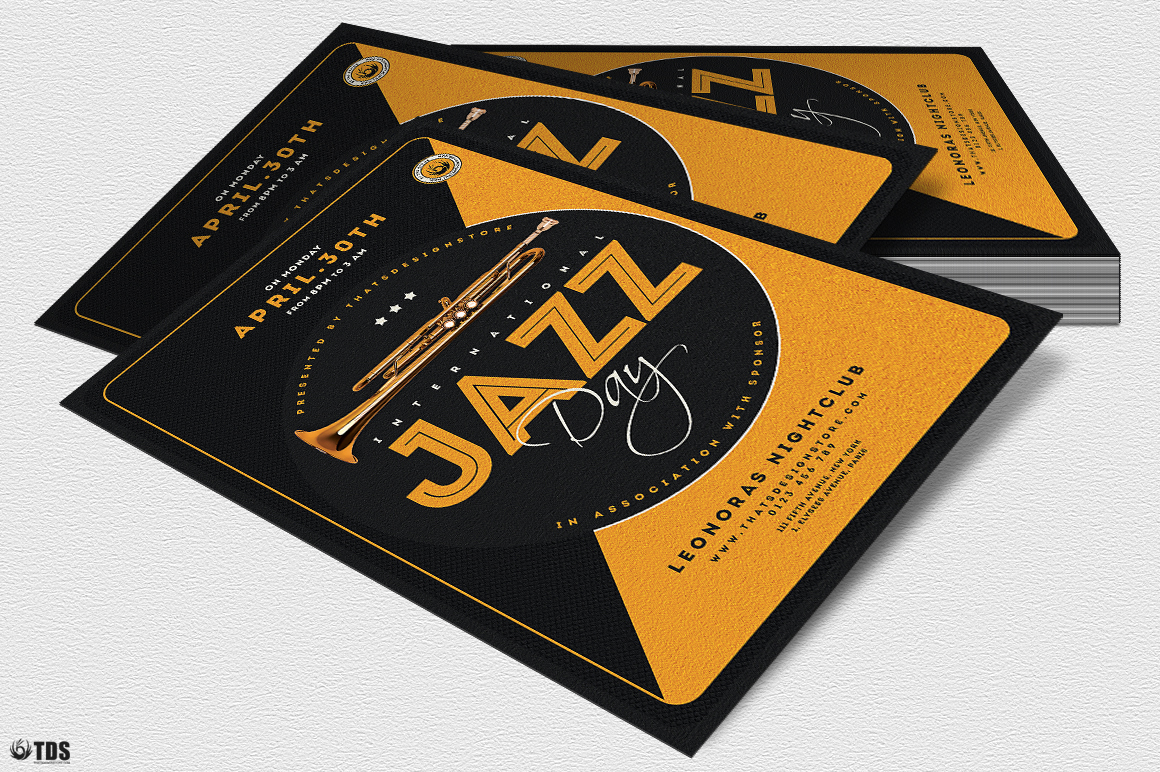 Jazz Day Flyer Template V3 example image 4