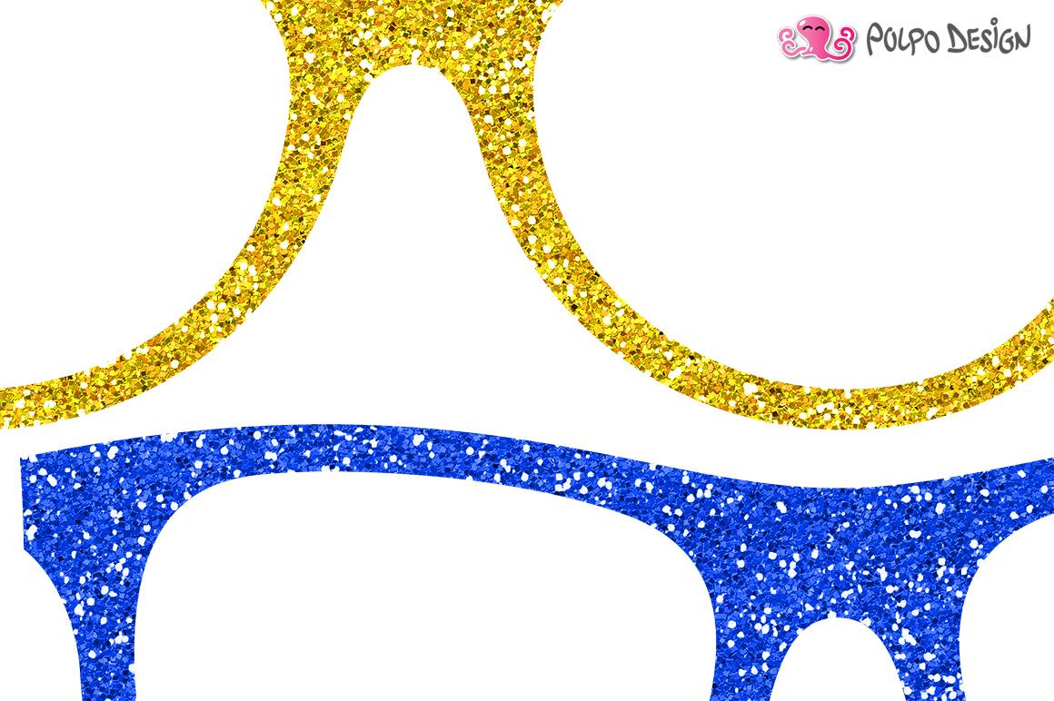 Colorful Glitter Glasses clip art example image 2
