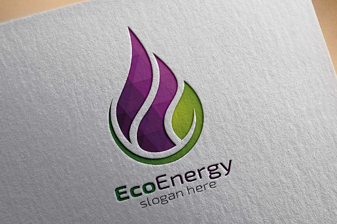 Eco Water Drop Logo, Energies logo example image 4