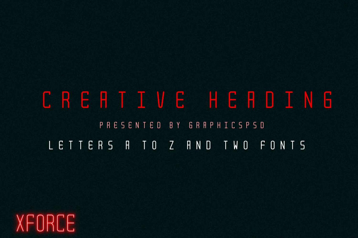 XForce - Minimal Tech Font example image 4