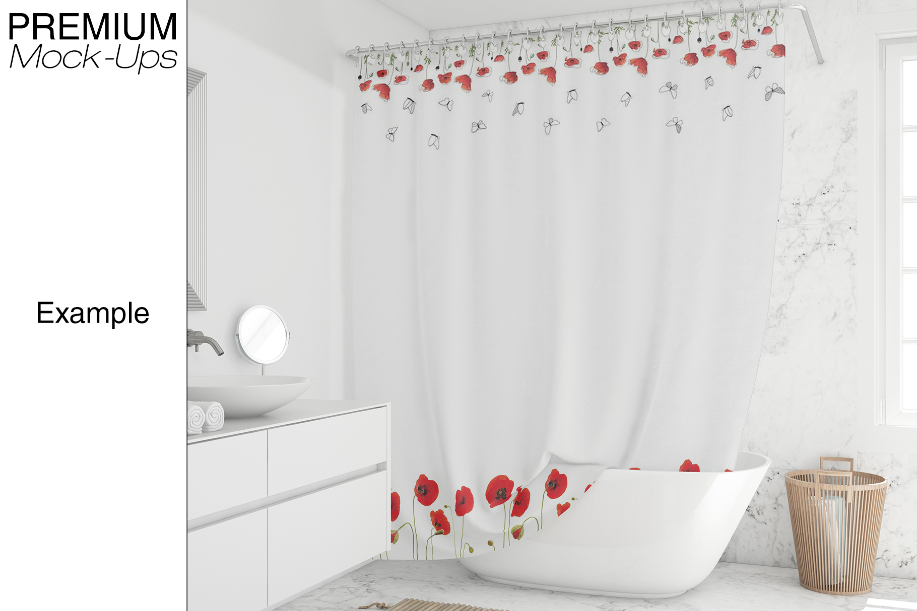 Shower Curtain Mockup Pack example image 15