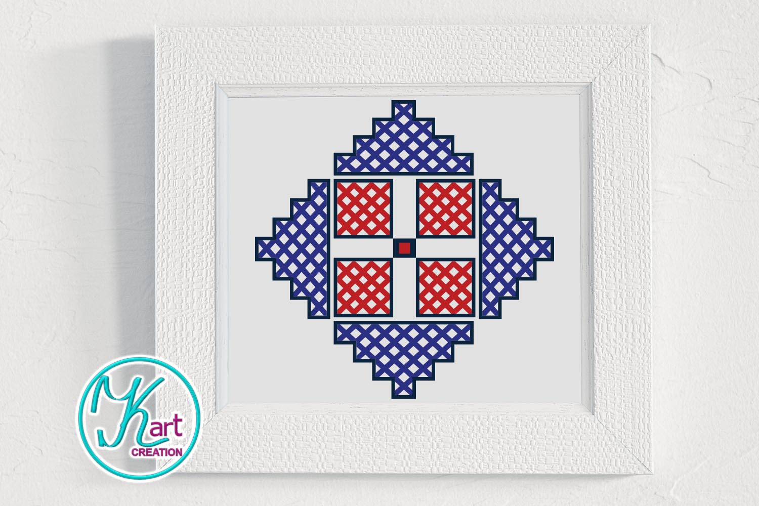 Cross Barn Quilt Ornament Cutting Printable File example image 2