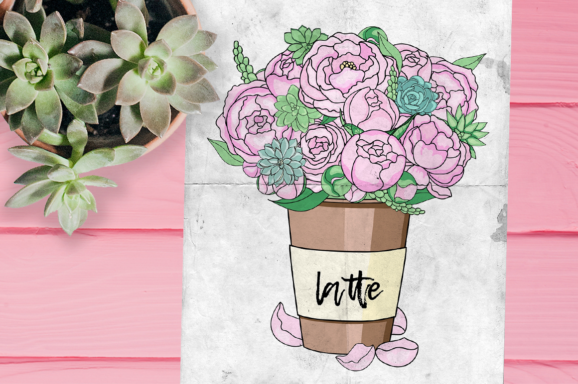 Peonies and Succulents example image 2