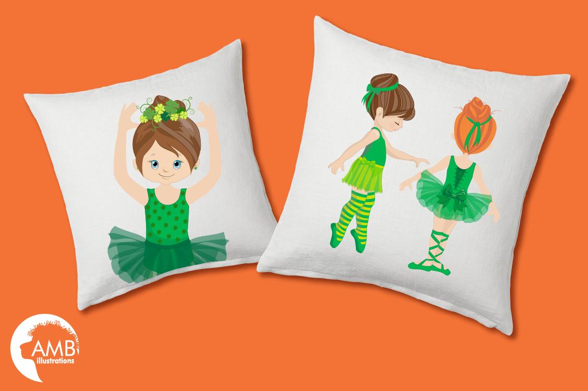 Irish dancers, Ballerina clipart, Ballet dancers in green, graphics and illustrations AMB-1588 example image 3