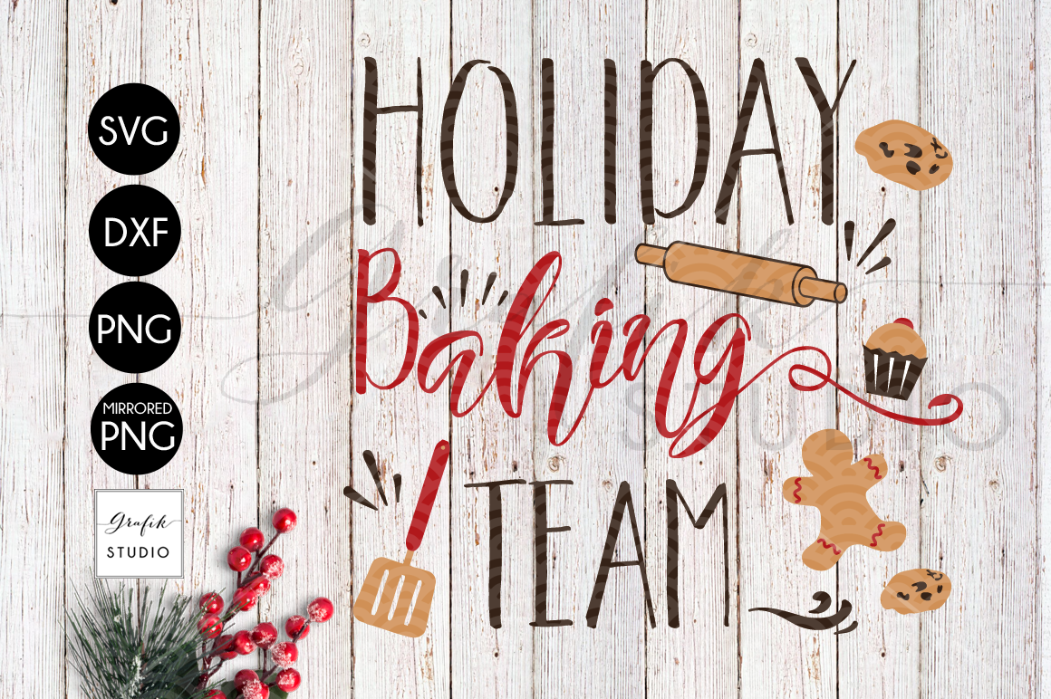 Holiday Baking Team CHRISTMAS SVG for Cricut example image 2