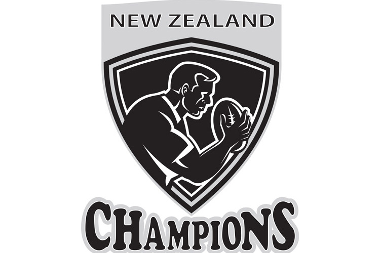 Rugby player New Zealand Champions shield example image 1