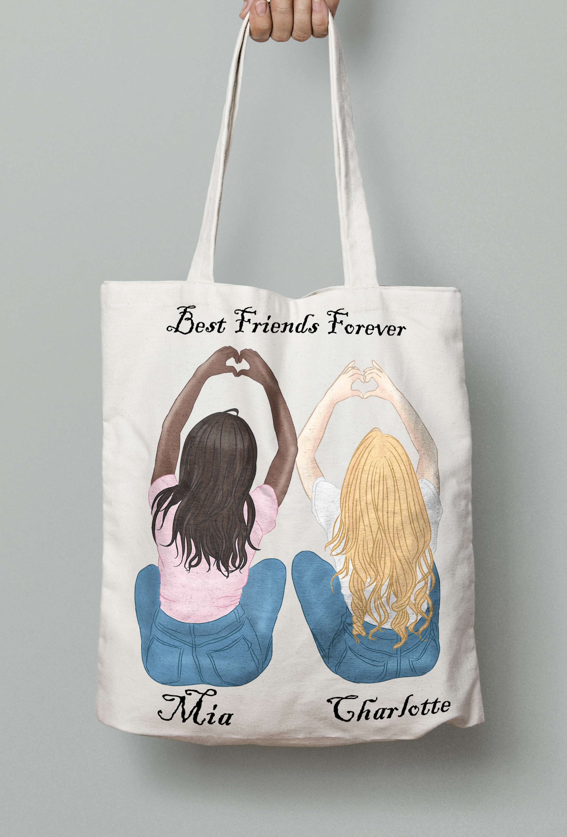 Best Friends Clipart Besties Clipart BFF Clipart Soul Sister example image 3