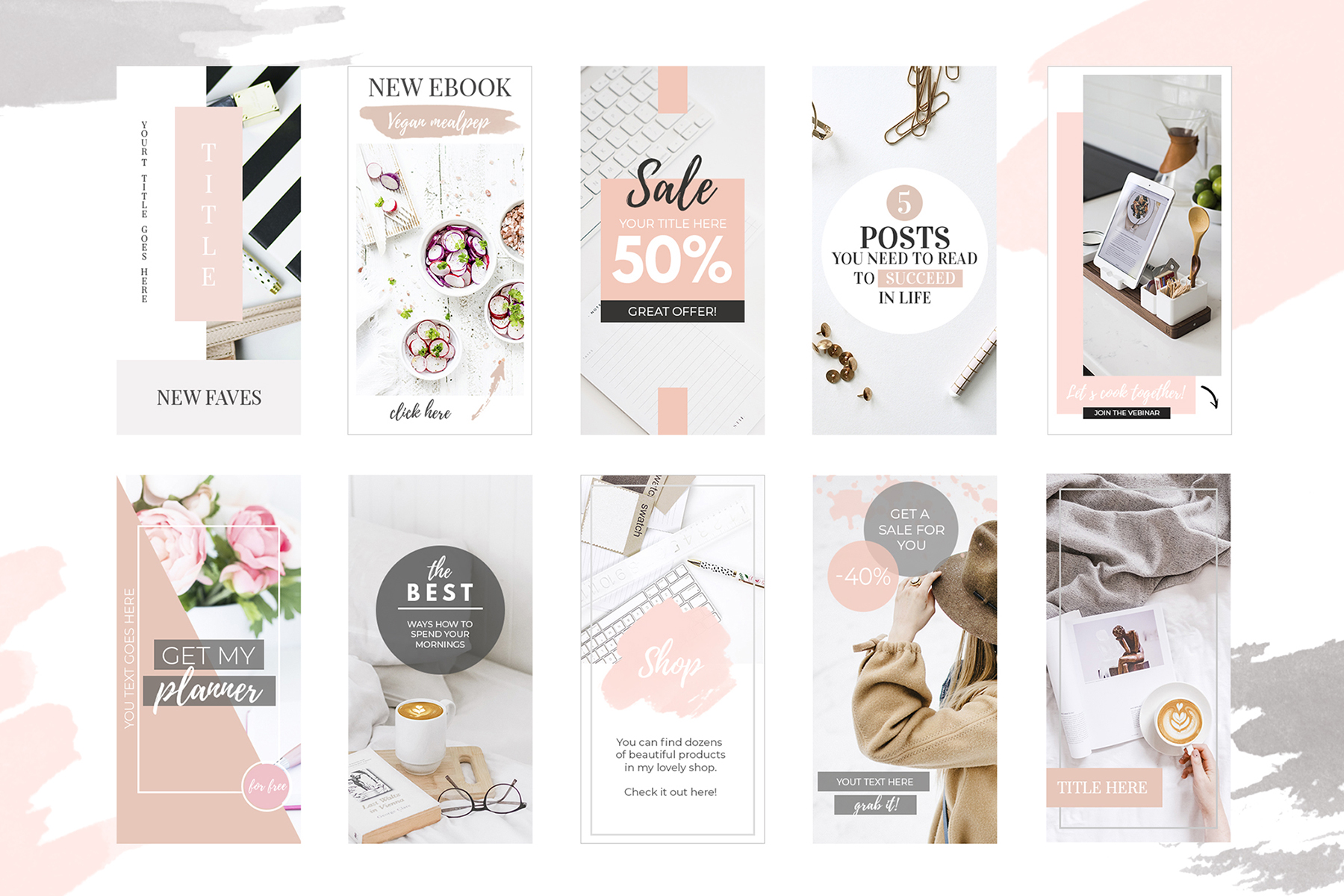 10 Banners for Blog or Pinterest example image 2