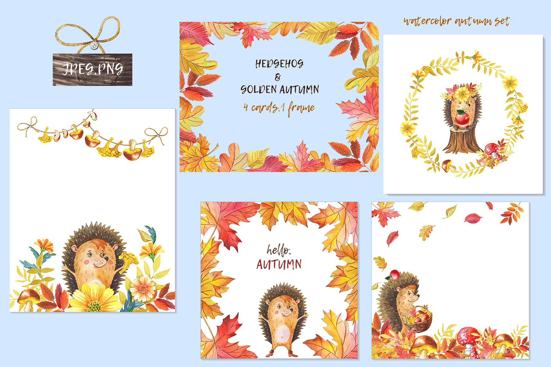 HEDGEHOG & GOLDEN AUTUMN example image 4