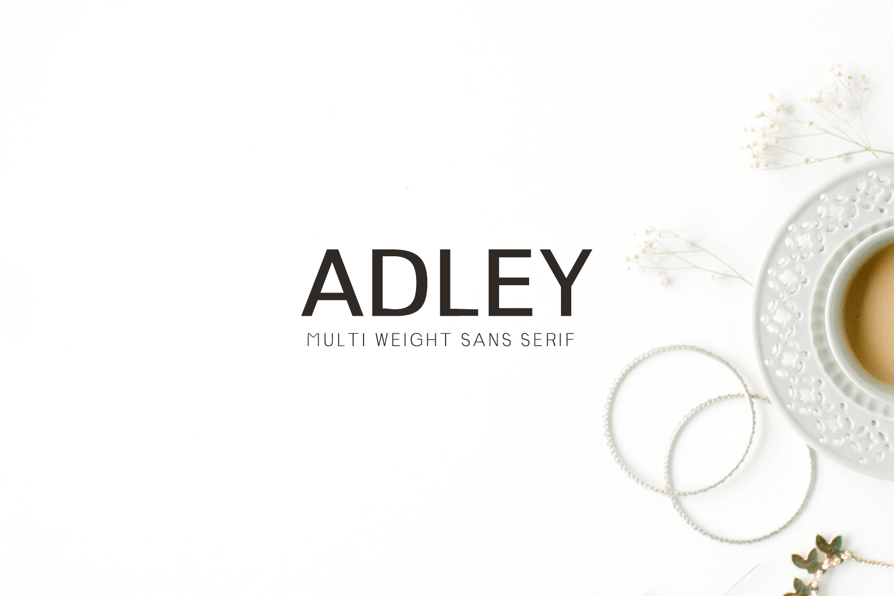 Adley Sans Serif 3 Font Family Pack example image 1
