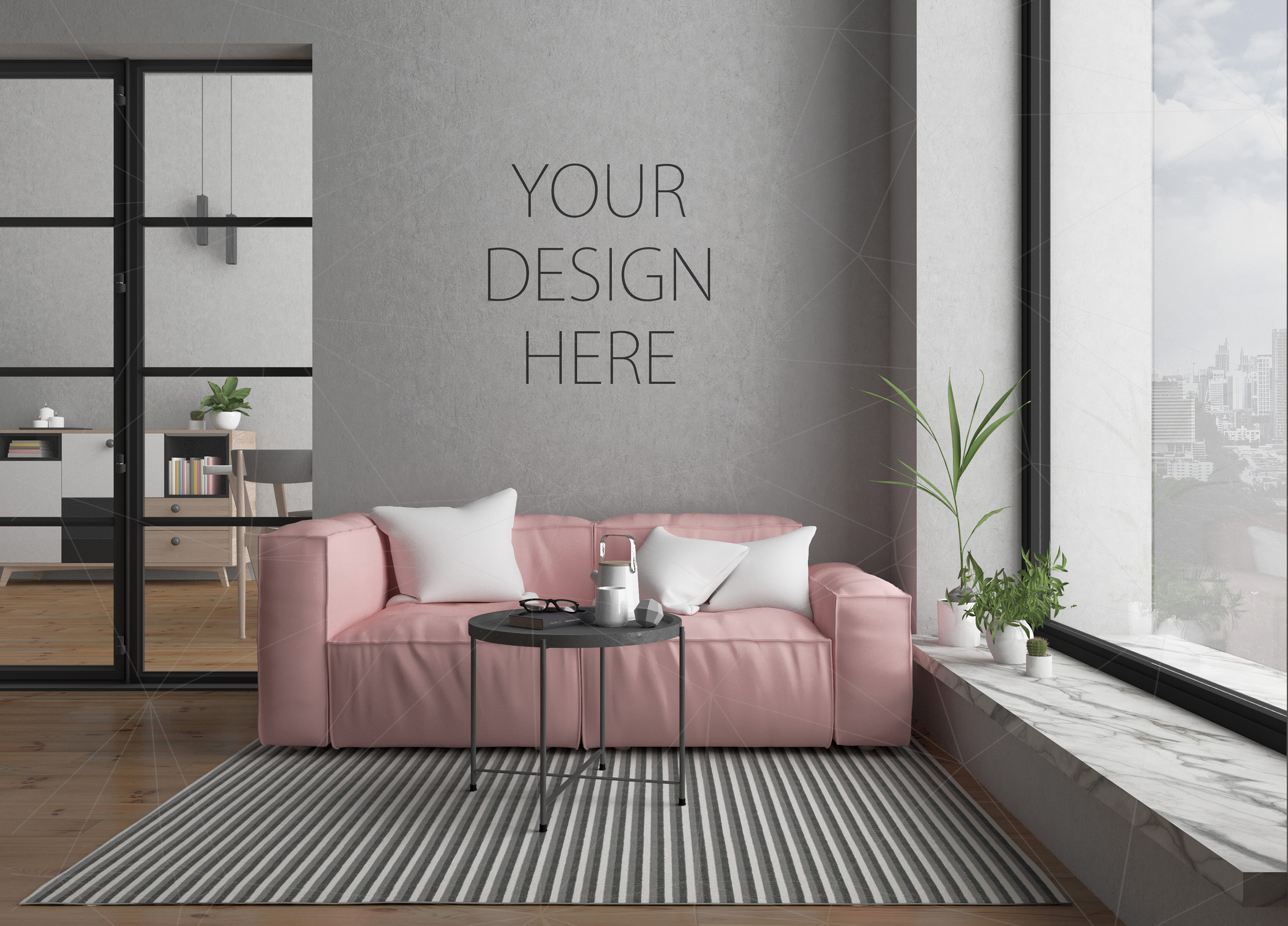 Interior mockup bundle - blank wall mock up example image 2