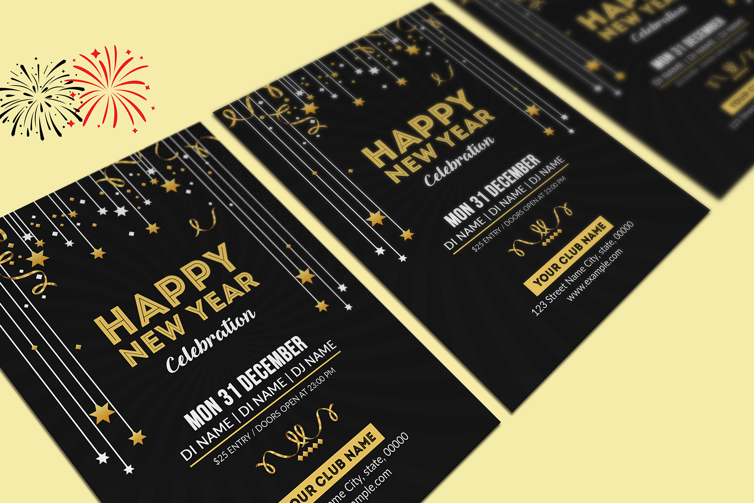 New Year Party Flyer example image 2