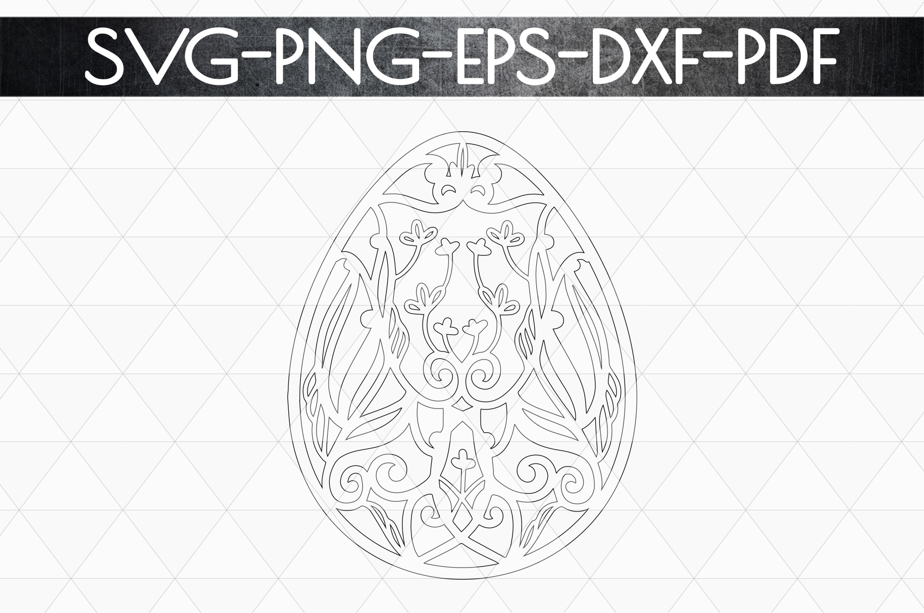 Dragon Egg Papercut Template, Easter Egg Hunter, PDF SVG DXF example image 5