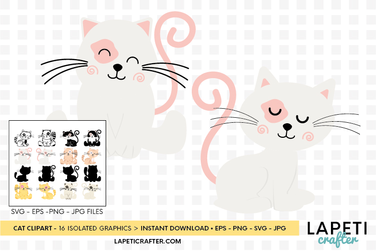 Cat clipart, kitten cats clipart, kitty clip art digital example image 5