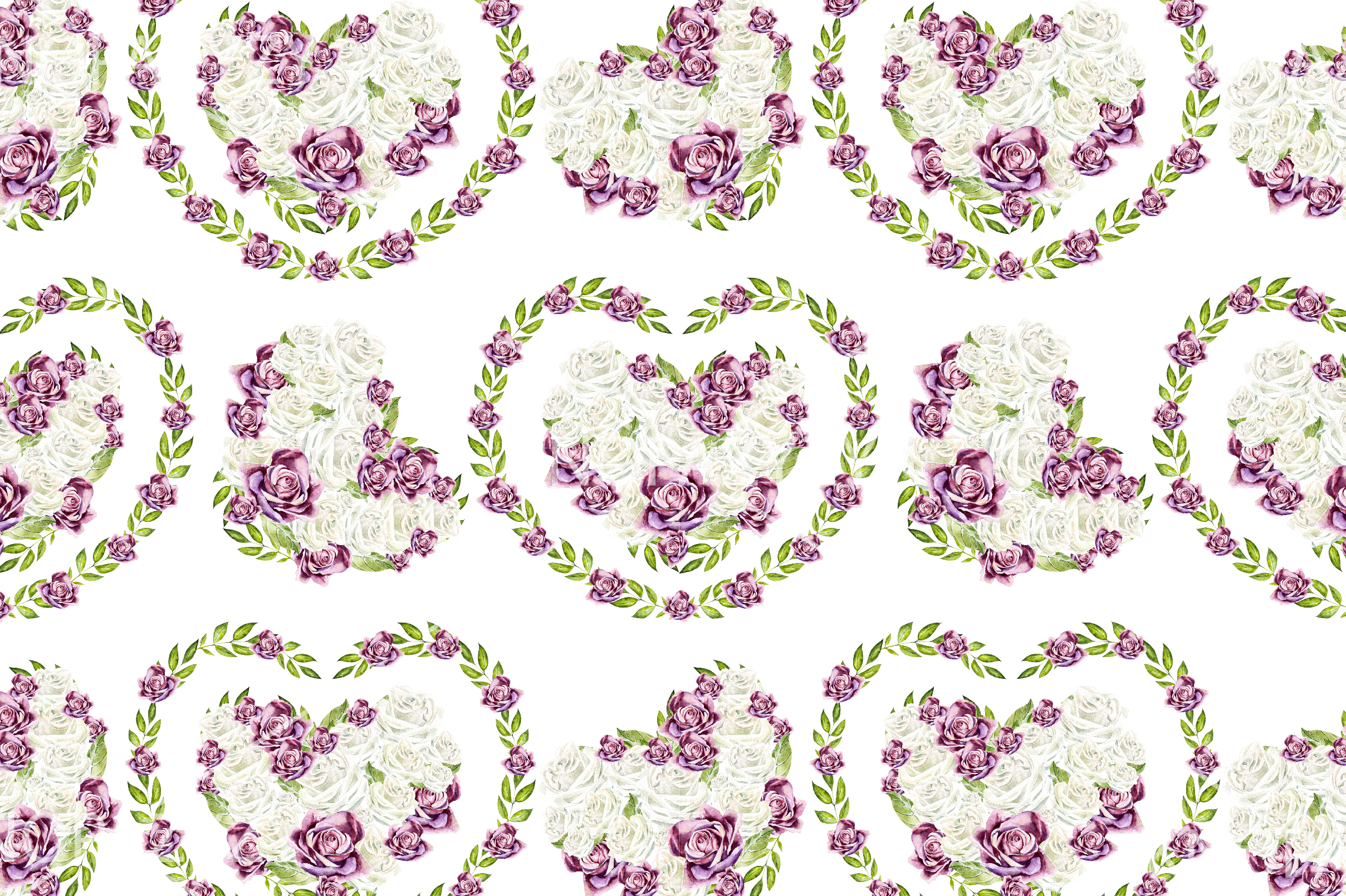 15 Hand Drawn Watercolor PATTERNS example image 9