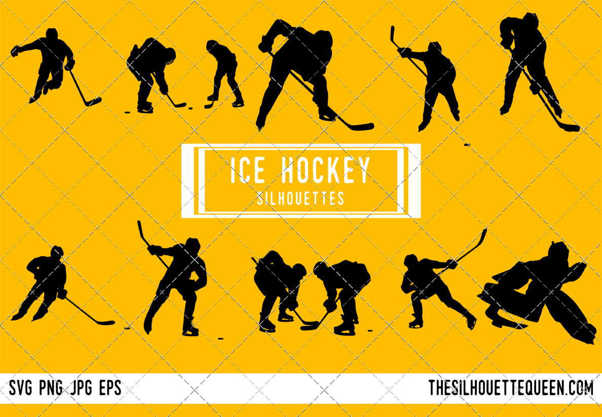 Ice Hockey Silhouette Player Goalie Svg Png Eps