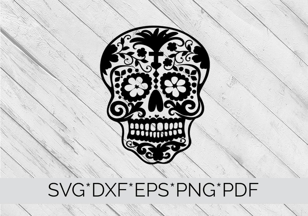 Sugar Skull SVG  Cutting File  example image 4