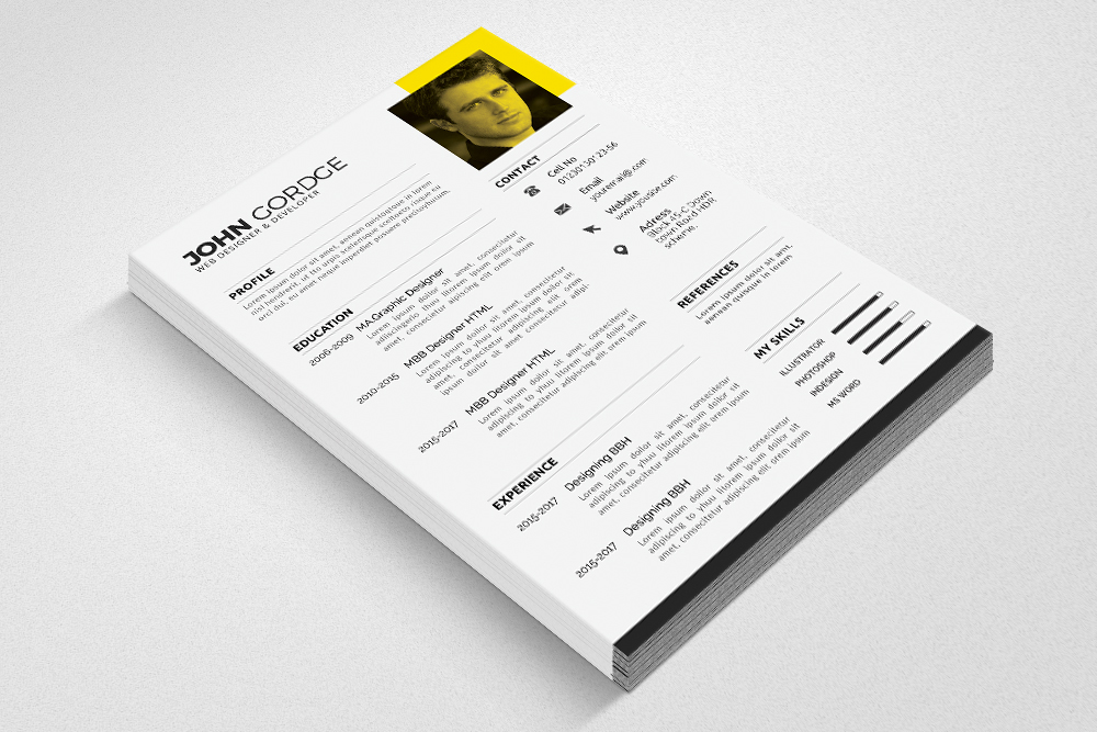 Clean Cv Resume Templates example image 3