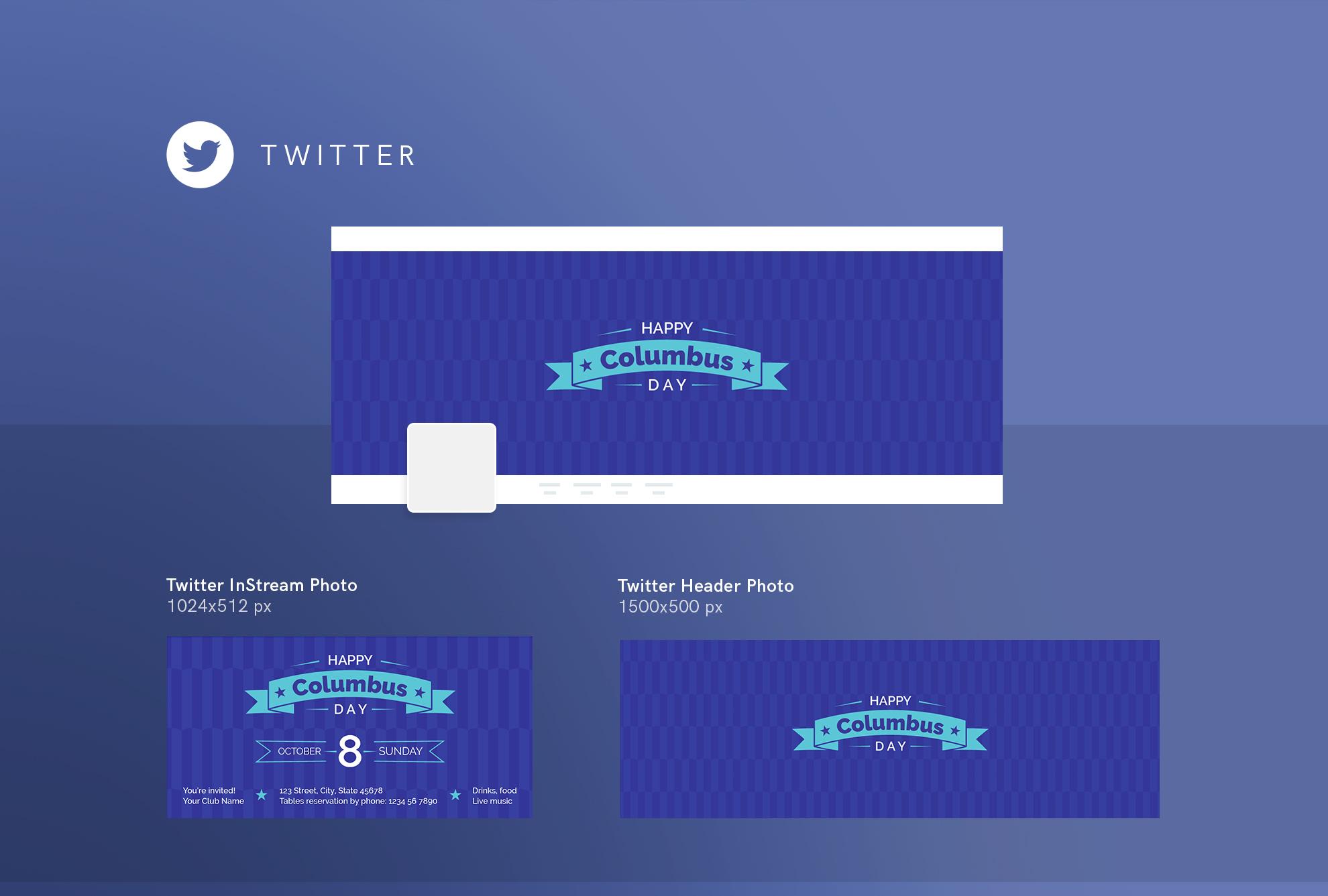 Columbus Day Party Design Templates Bundle example image 10