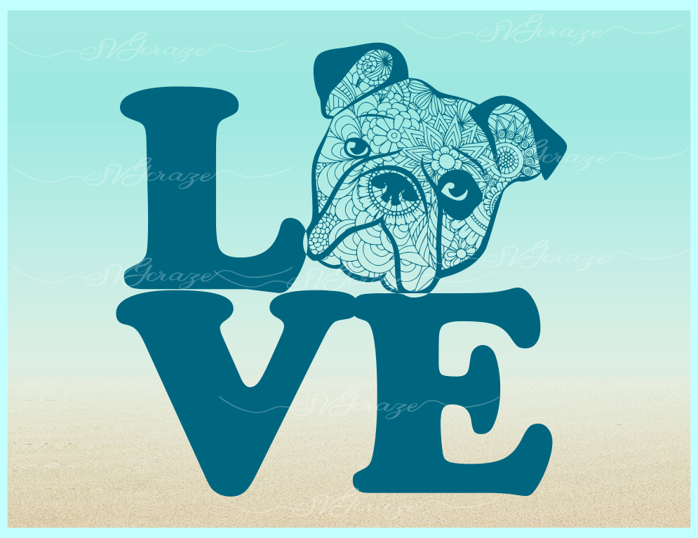 Bulldog Mandala Zentangle SVG Eps Png files for Cricut example image 5
