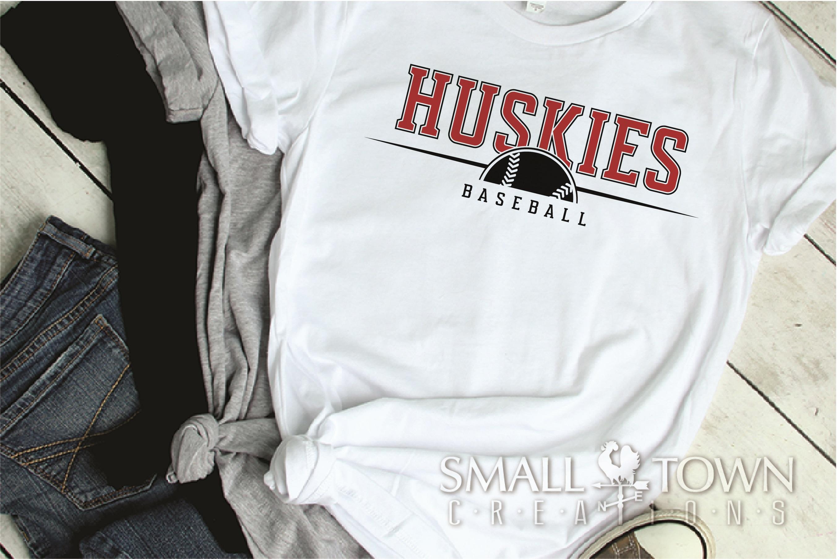 Huskies, Huskies Baseball, Team, logo, PRINT, CUT & DESIGN example image 2