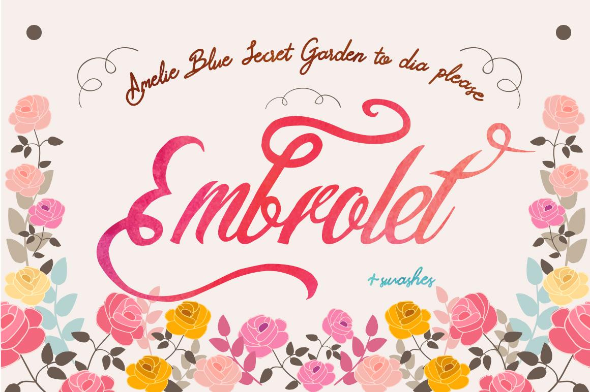 Embrolet Script Font example image 2