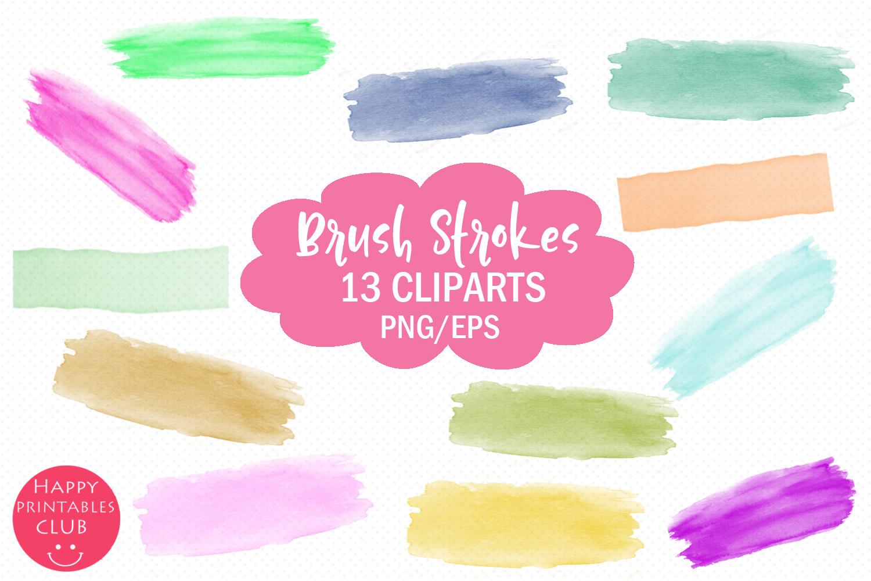 Brush Strokes Clipart- Clipart Brush Strokes example image 1