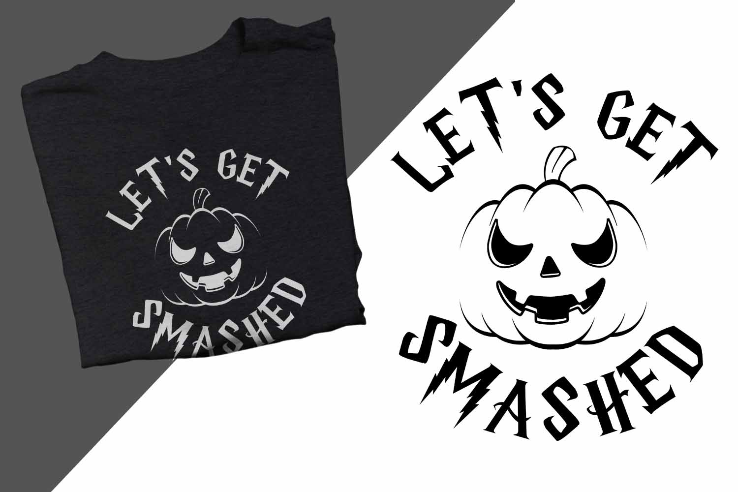 Let's get smashed Halloween Printable example image 1