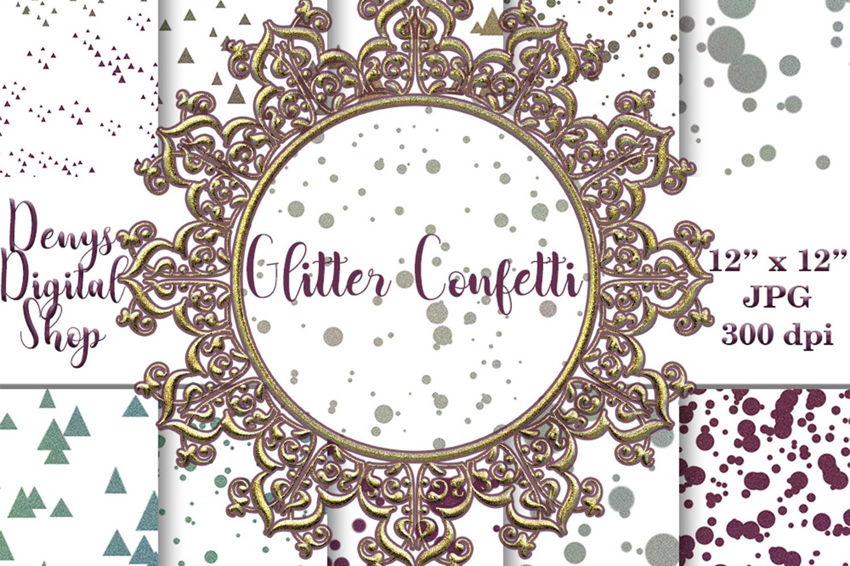 Glitter Confetti Digital Paper, Glitter Confetti, SALE example image 1