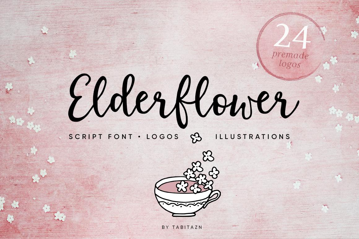Elderflower script + logos example image 1