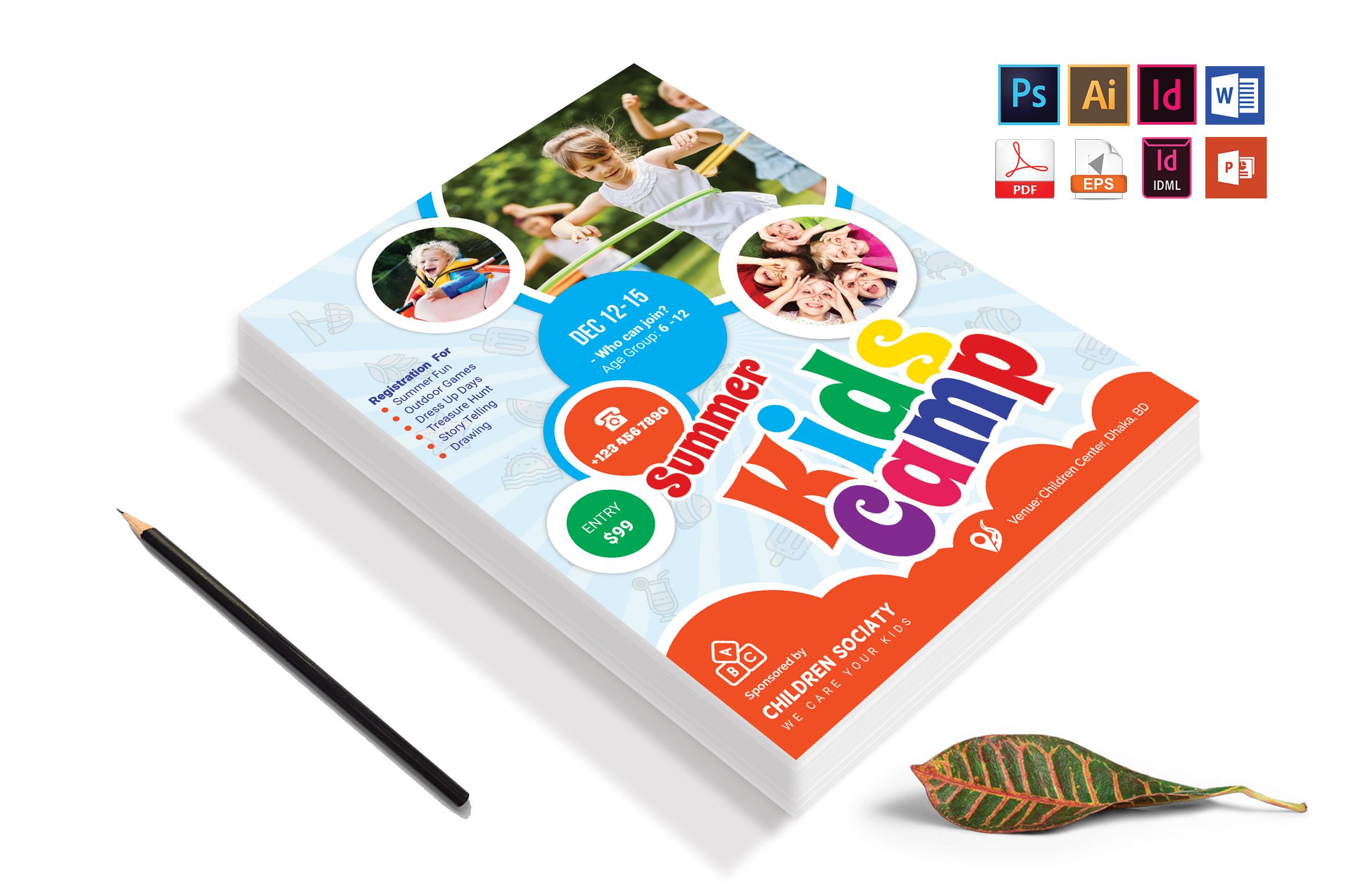 Kids Summer Camp Flyer Vol-04 example image 4