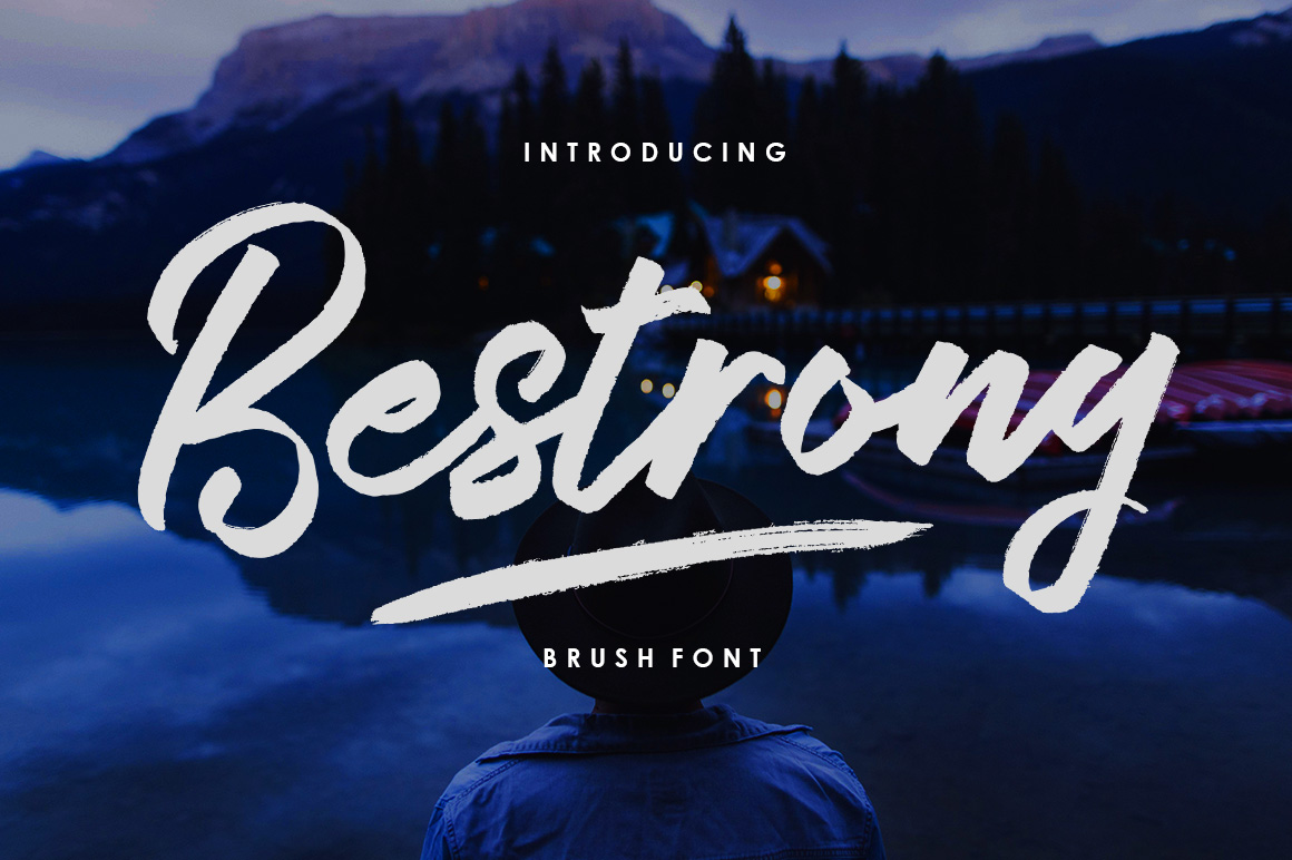Bestrong - Brush Font example image 1