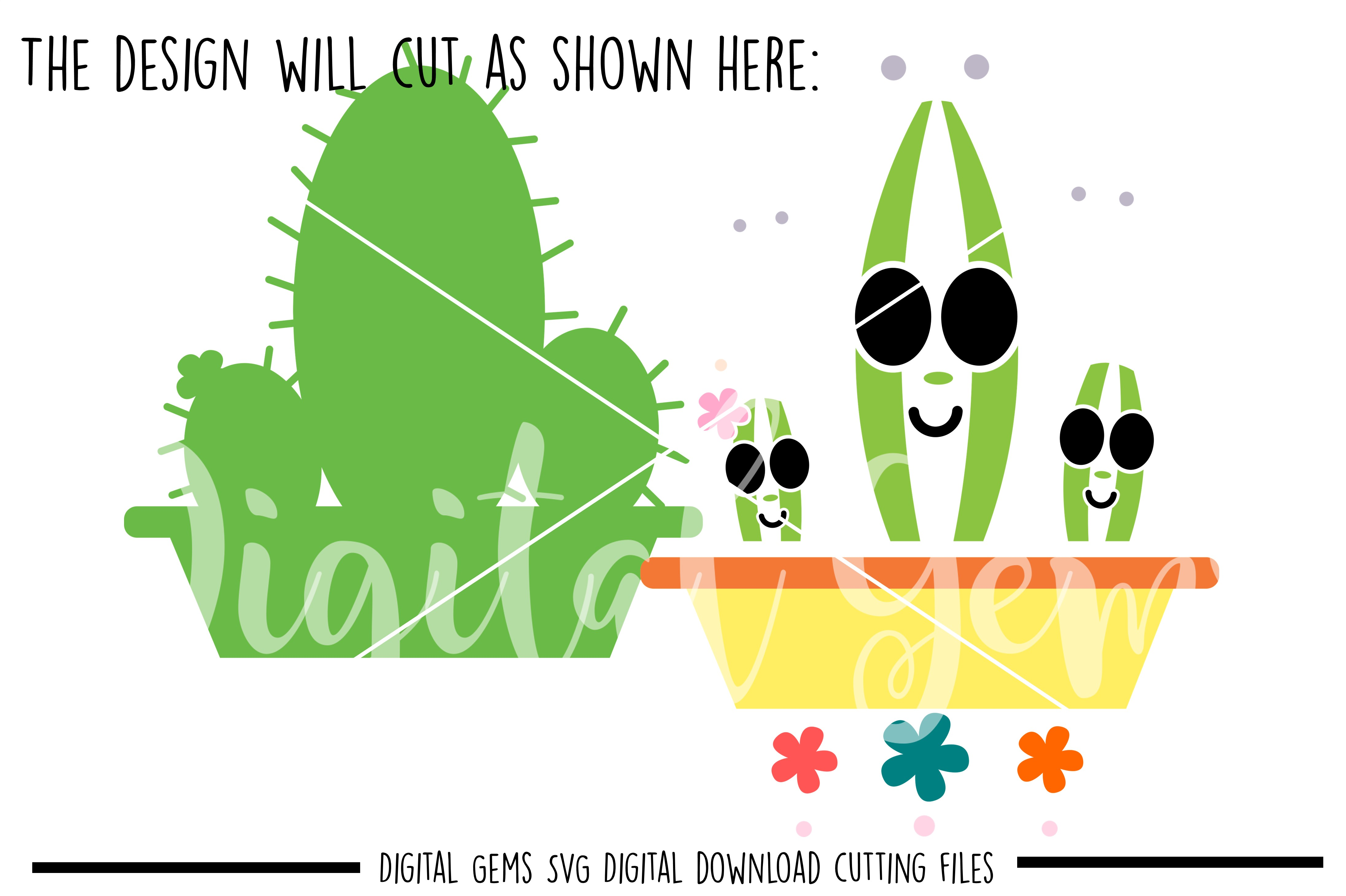 Cactus SVG / PNG / EPS / DXF Files example image 2